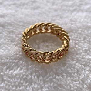 NEW Gold Chain Ring